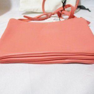 Celine Bags - NEW CELINE Leather TRIO Crossbody Bag FLAMINGO